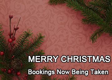 Christmas Day Bookings Now Being Taken